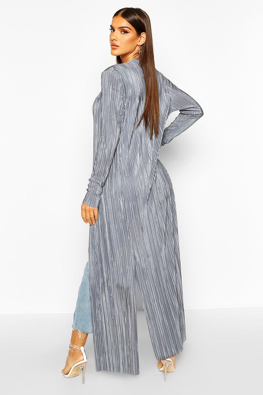 Boohoo | Плиссированное макси кимоно | Clouty