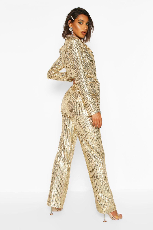Boohoo | Широкие брюки с блестками | Clouty