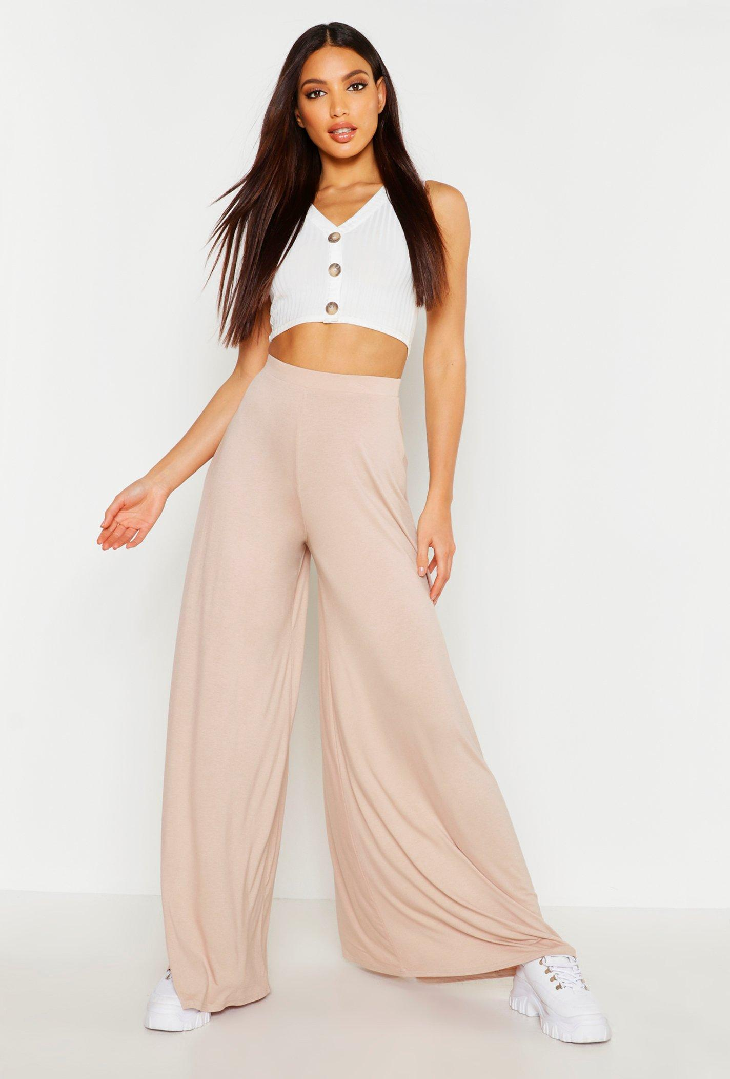 Boohoo | Сильно широкие брюки из джерси | Clouty