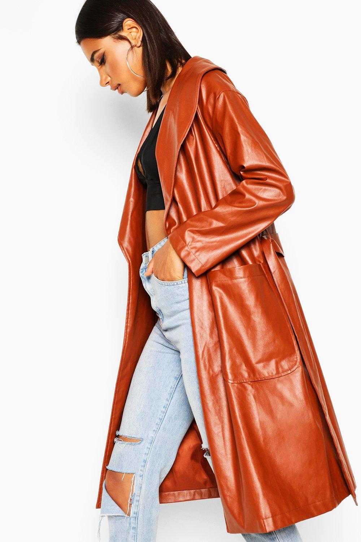 Boohoo | Куртка из искусственной кожи с поясом | Clouty