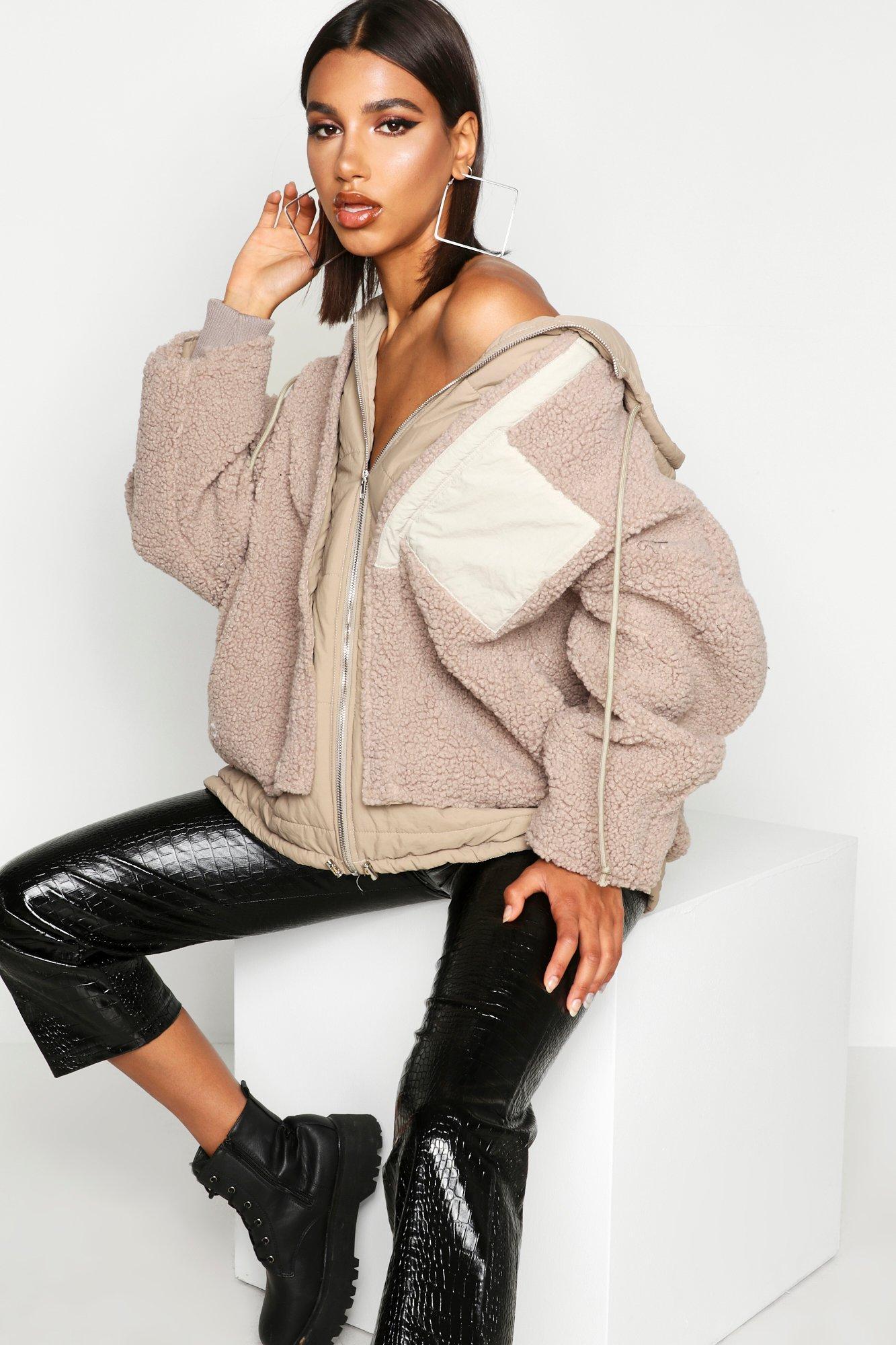 Boohoo | Двухслойная куртка с искусственным мехом | Clouty
