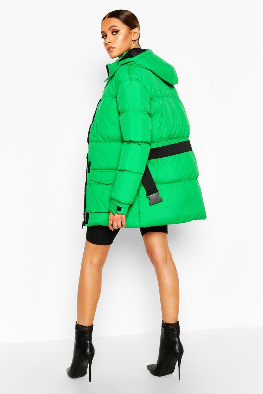 Boohoo   Пальто с мягкой подкладкой и карманом с поясом   Clouty