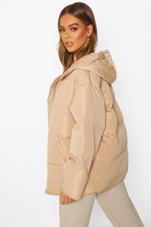 Boohoo | Пуховая куртка оверсайз с капюшоном | Clouty