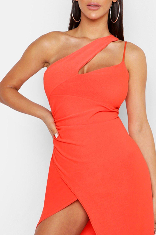 Boohoo | Мини-платье на одно плечо | Clouty