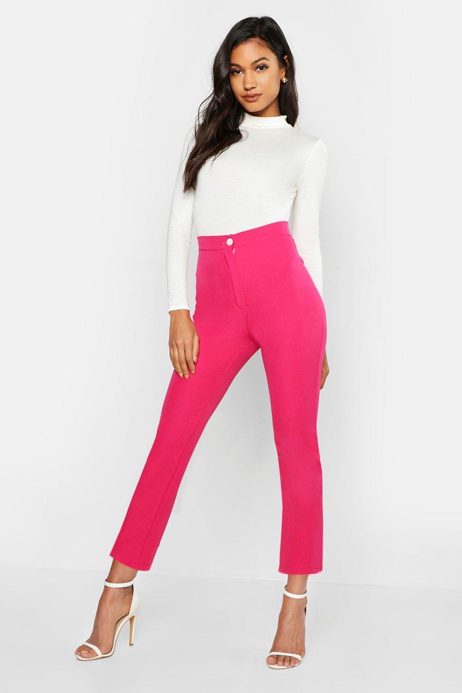 Boohoo | Зауженные брюки с контрастными пуговицами | Clouty