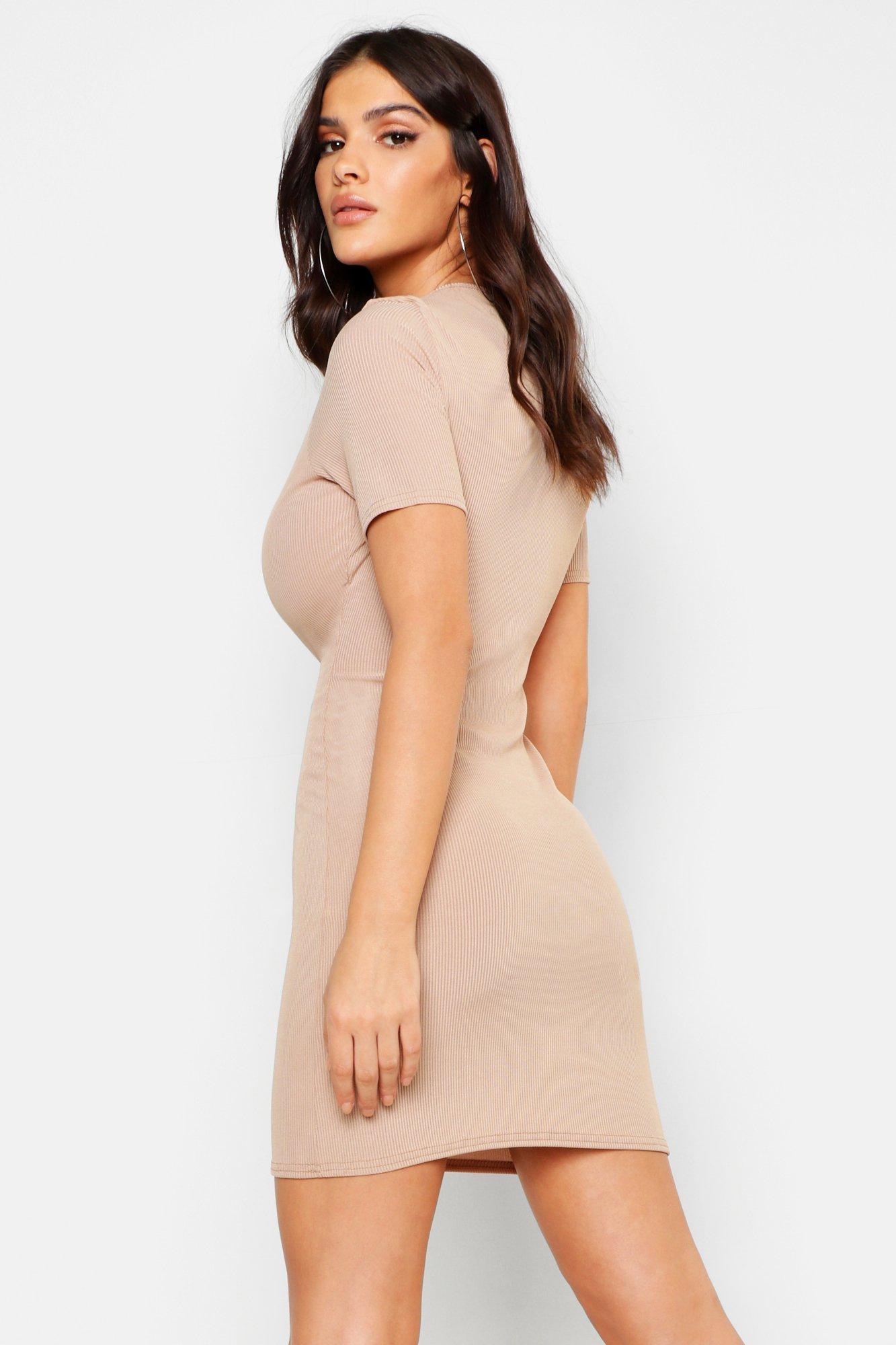 Boohoo | Мини-платье в рубчик | Clouty