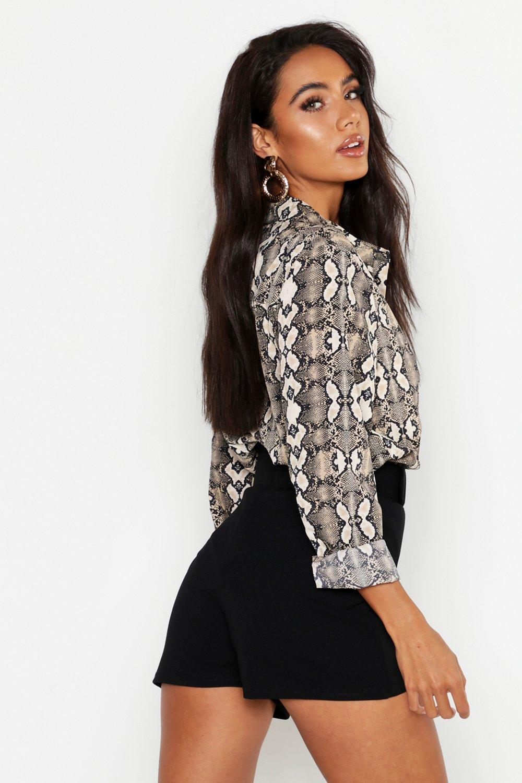 Boohoo | Приталенные шорты с поясом | Clouty