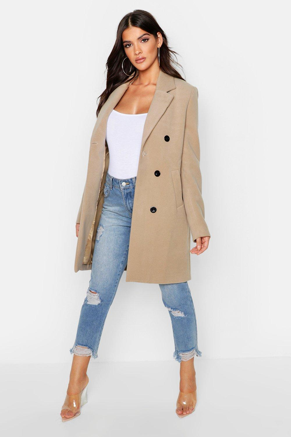 Boohoo   Double Breasted Coat   Clouty