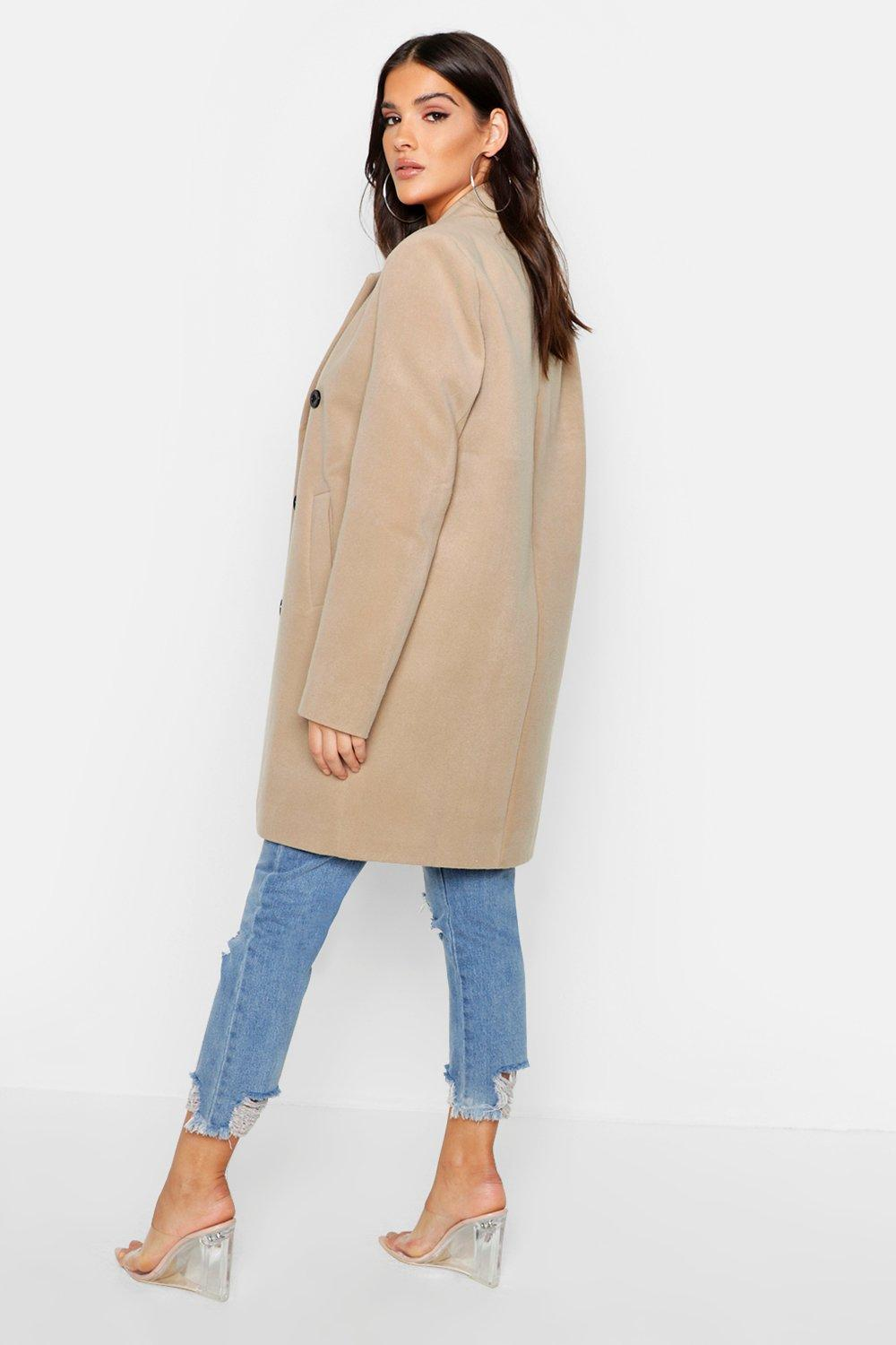 Boohoo | Double Breasted Coat | Clouty