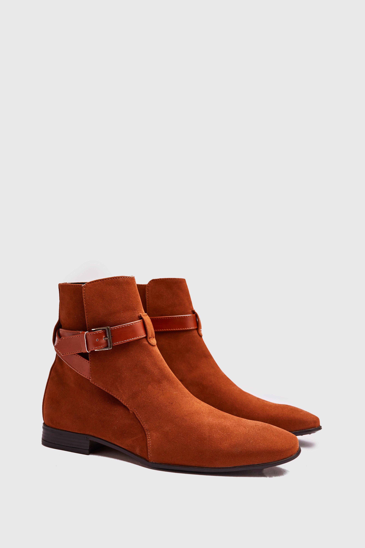 Boohoo | Ботинки челси с ремешков вокруг голени из искусственной замши | Clouty