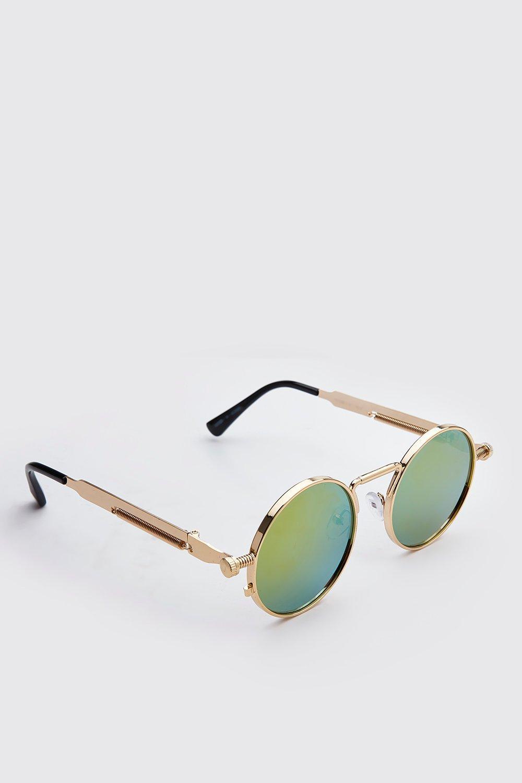 Boohoo | Винтажные закругленные солнцезащитные очки | Clouty