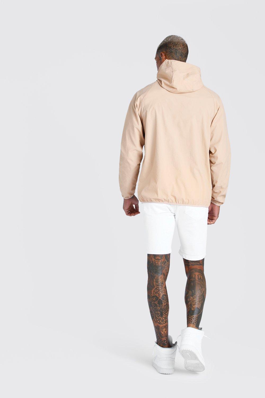 Boohoo | Нейлоновая куртка с передним карманом без застежки | Clouty
