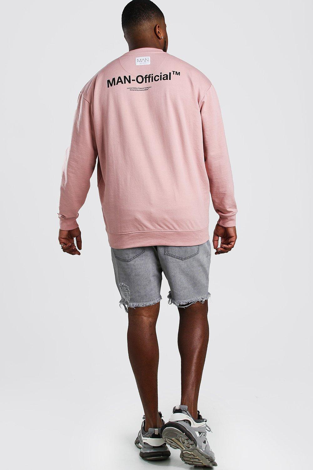 Boohoo | Big And Tall MAN Official Sweater | Clouty