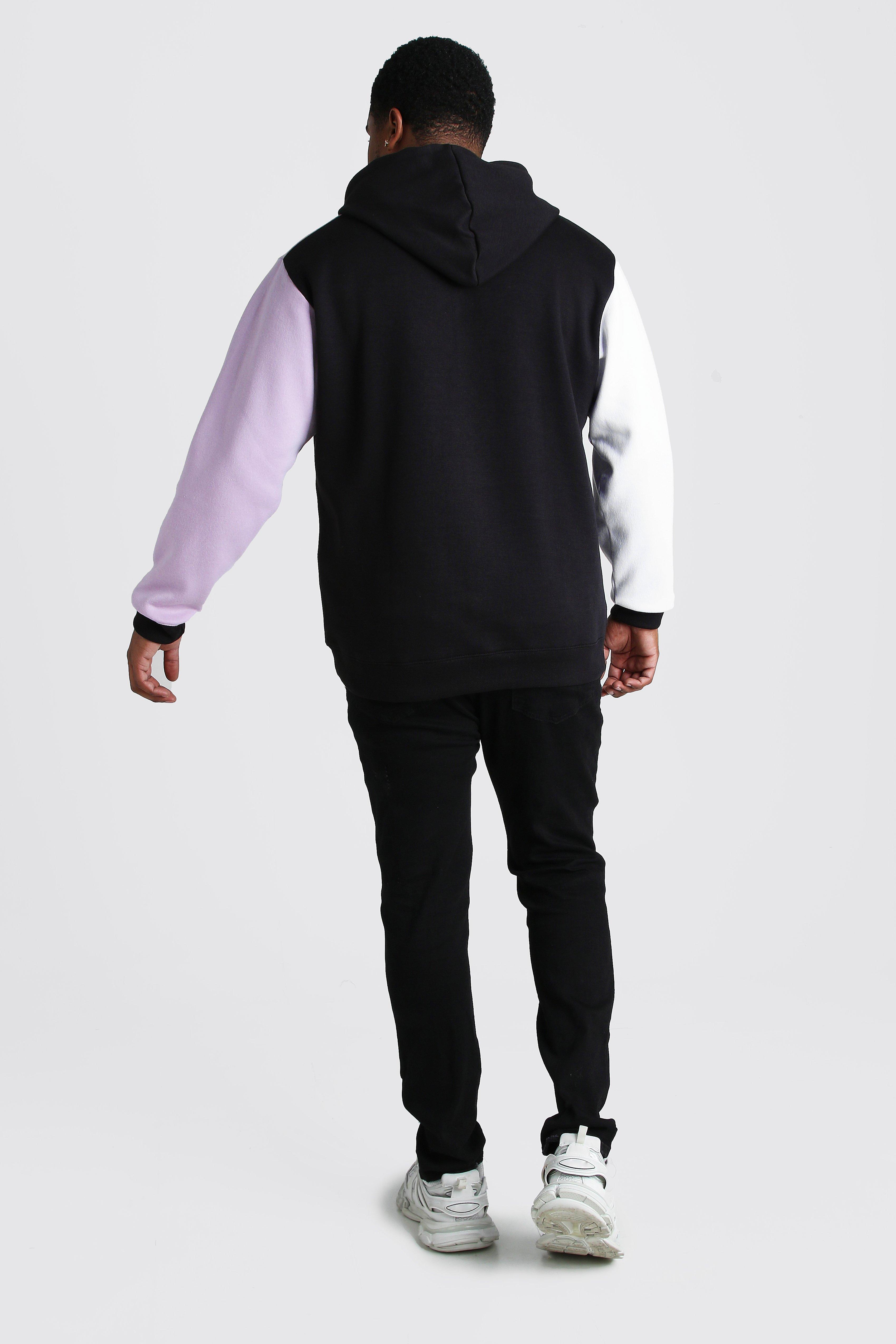 Boohoo | Big And Tall MAN Dash Colour Block Hoodie | Clouty