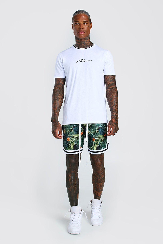 Boohoo   Баскетбольные шорты Airtex с тропическим принтом   Clouty