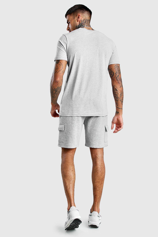 Boohoo | Тканая оригинальная футболка MAN с удлиненной горловиной и этикеткой | Clouty