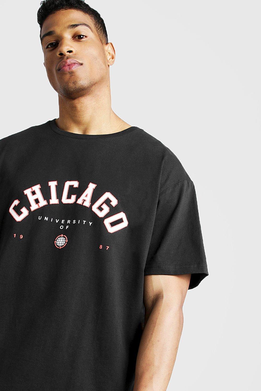 Boohoo | Свободная футболка Chicago | Clouty