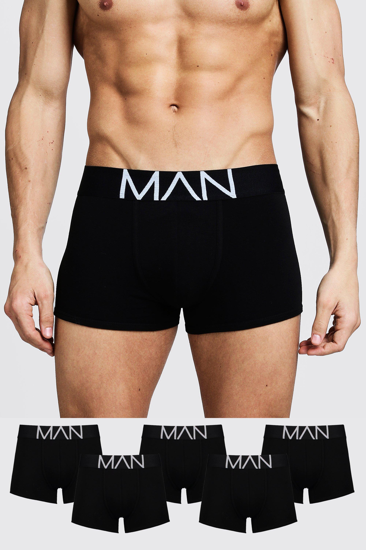 Boohoo | Комплект из пяти боксеров с надписью MAN | Clouty