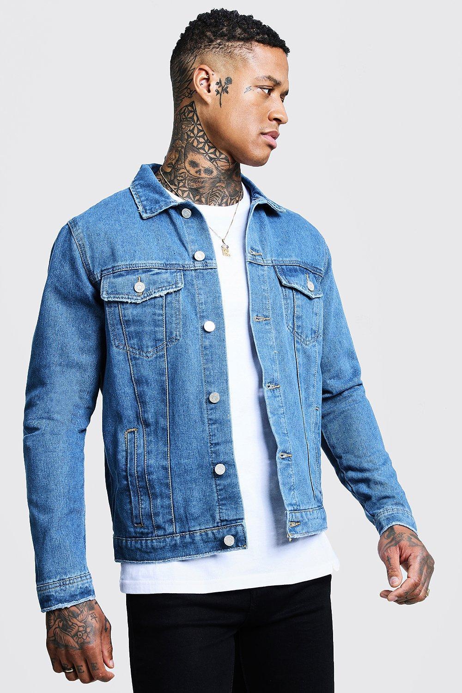 Boohoo   Regular Fit Denim Western Jacket   Clouty