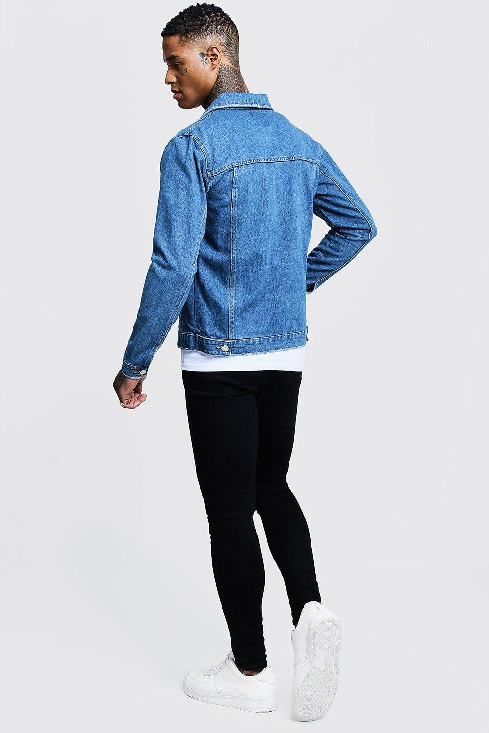 Boohoo | Regular Fit Denim Western Jacket | Clouty
