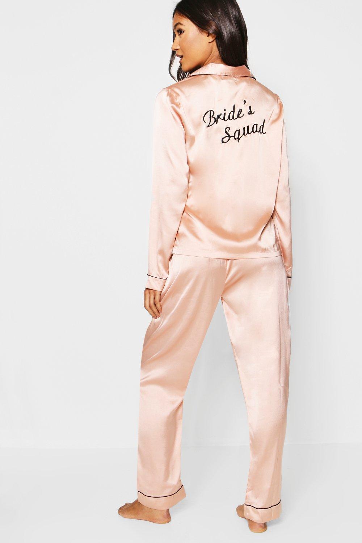 Boohoo | Набор Атласные брюки Squad невест | Clouty