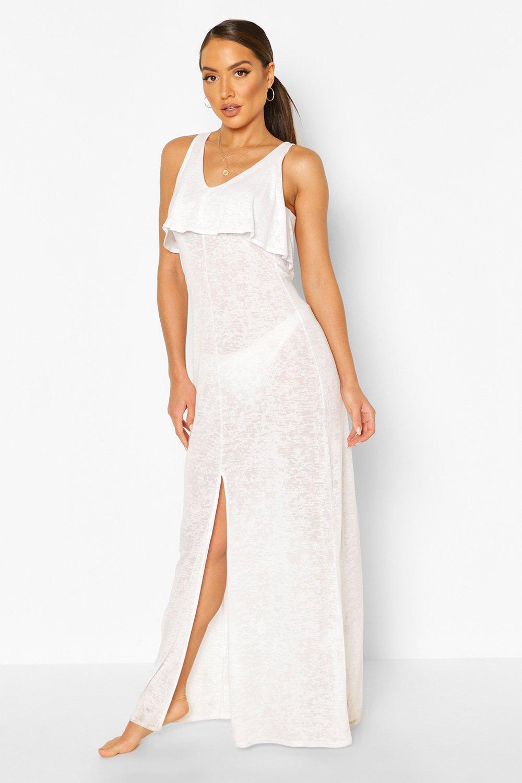Boohoo | Многослойное пляжное платье-макси | Clouty