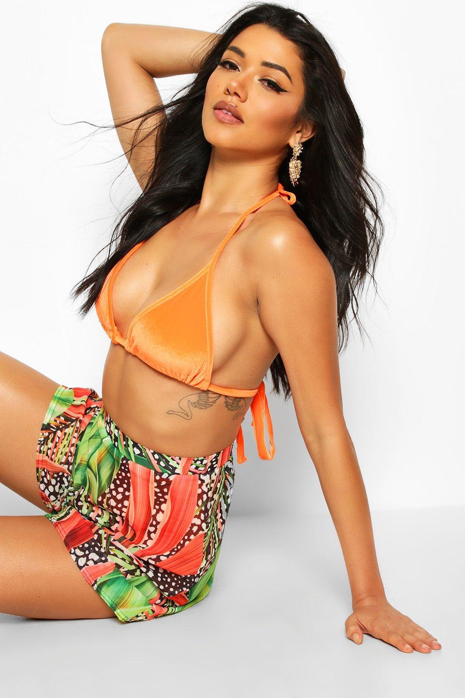 Boohoo   Пляжные шорты с тропическим леопардовым принтом   Clouty