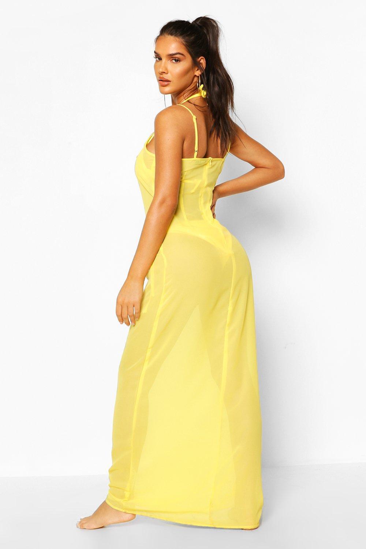 Boohoo | Пляжное платье макси на бретельках | Clouty