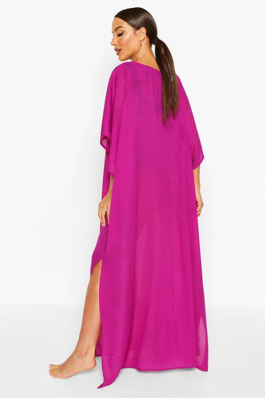 Boohoo | Пляжное макси-платье в стиле кимоно | Clouty