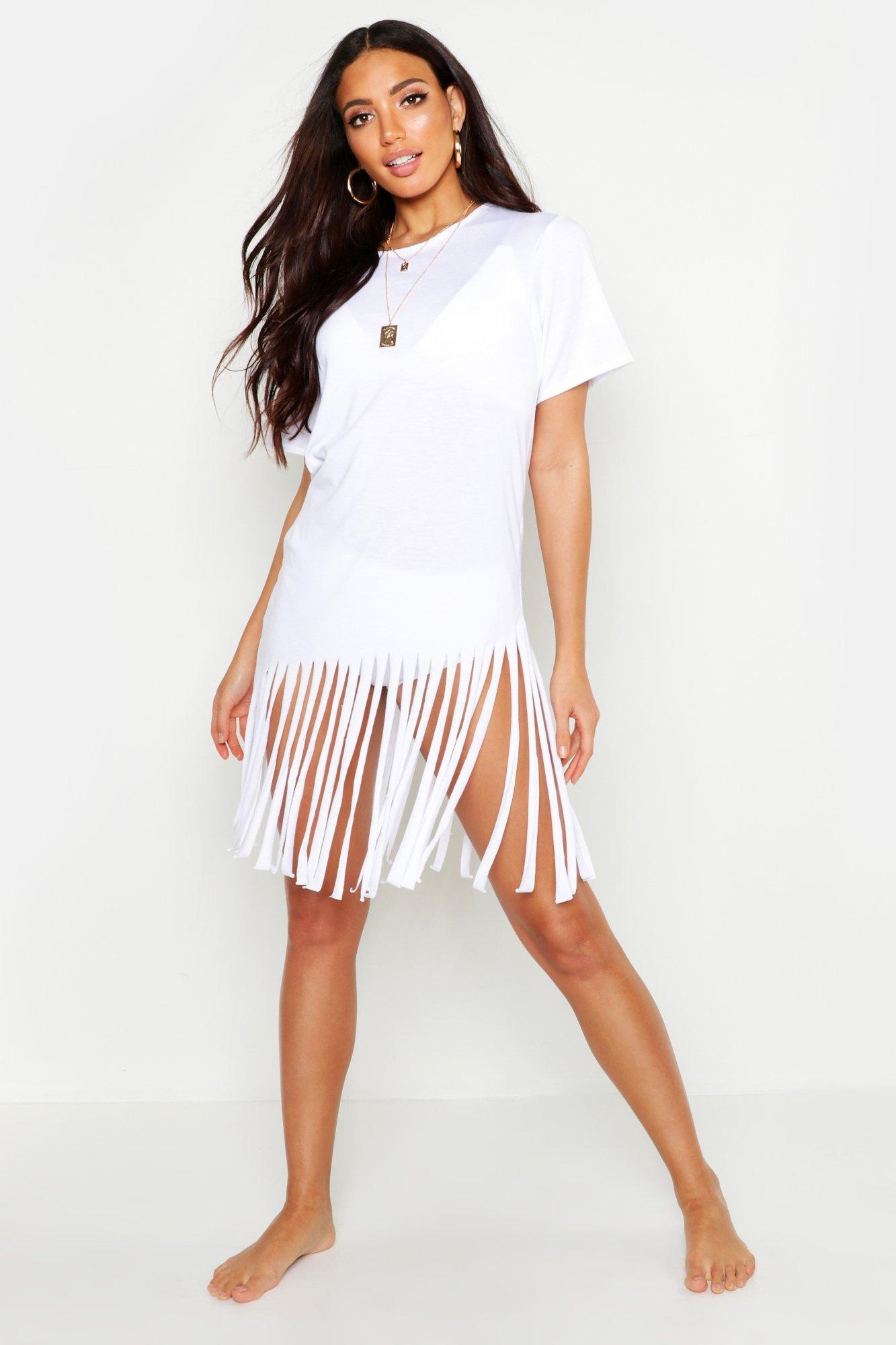 Boohoo | Пляжное платье с кисточками | Clouty