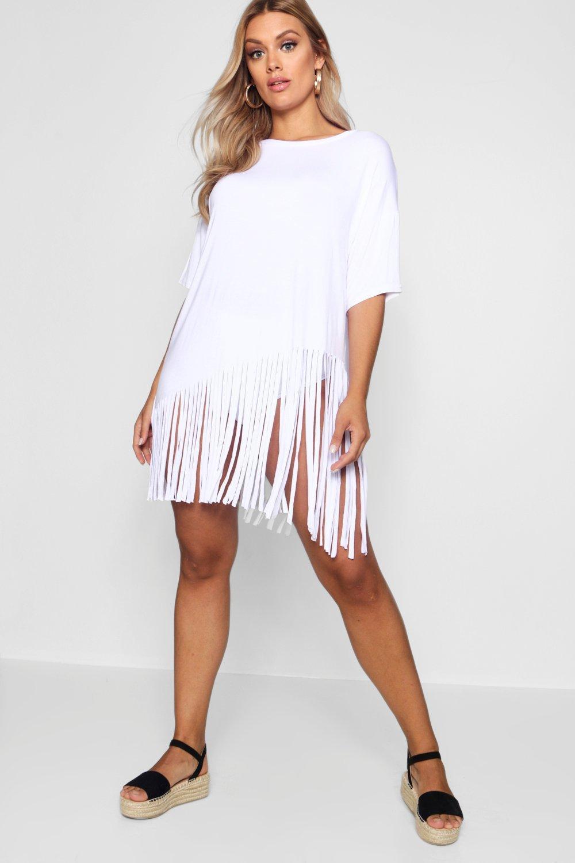 Boohoo   «Плюс сайз» Пляжное платье с кисточками   Clouty