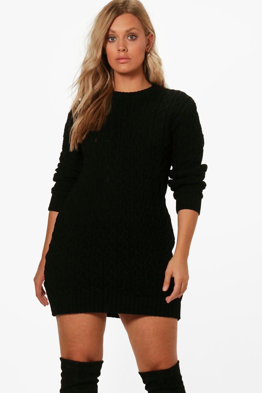 Boohoo   Платье-джемпер с отделкой в виде косичек из коллекции «Плюс сайз»   Clouty
