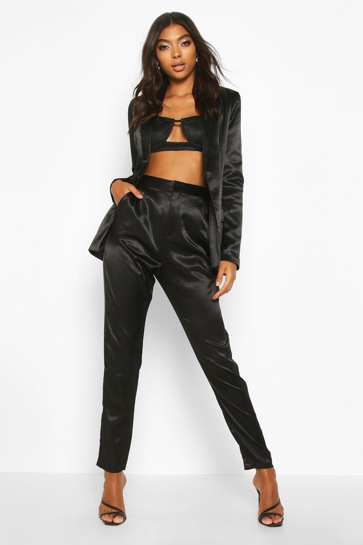 Boohoo | Tall — Атласные брюки | Clouty