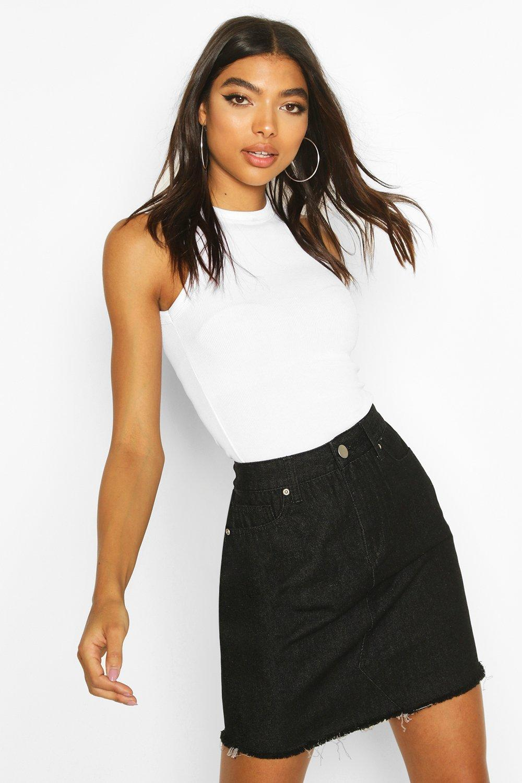 Boohoo | Tall Fray Hem Denim Skirt | Clouty