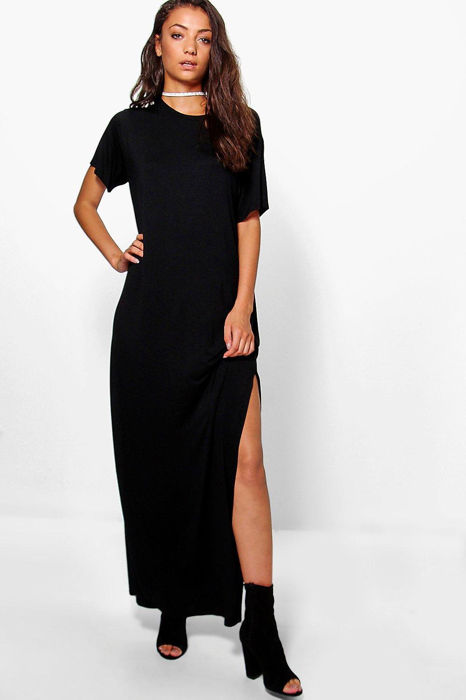 Boohoo | Платье-футболка макси с разрезом сбоку Tall Delila | Clouty