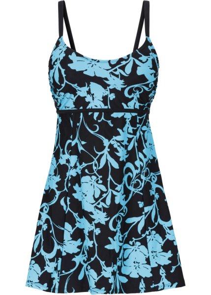 Bonprix   Формирующее купальное платье (бирюзовый/черный)   Clouty