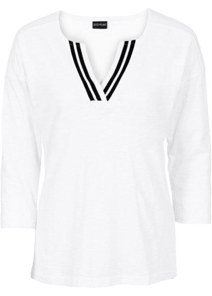 Bonprix | Футболка (белый/черный) | Clouty