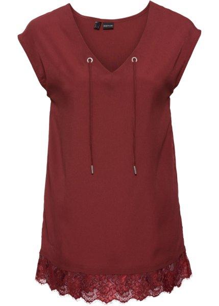 Bonprix   Шифоновая блузка (темно-красный)   Clouty