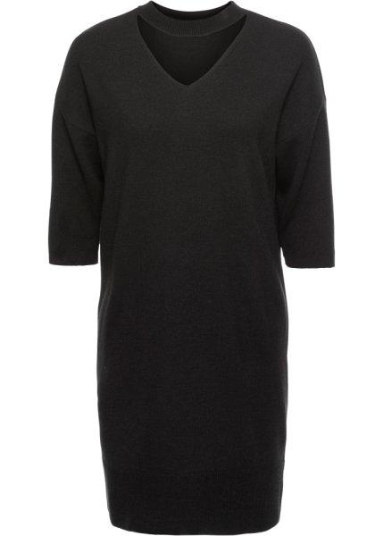 Bonprix | Платье вязаное (черный) | Clouty