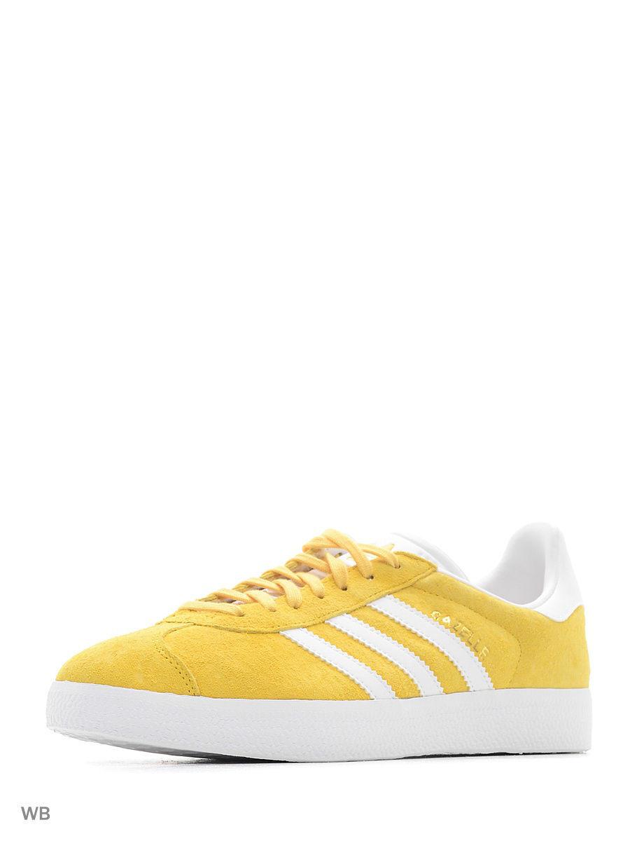 adidas | желтый, белый Кеды Gazelle  Eqtyel/White/Goldmt | Clouty