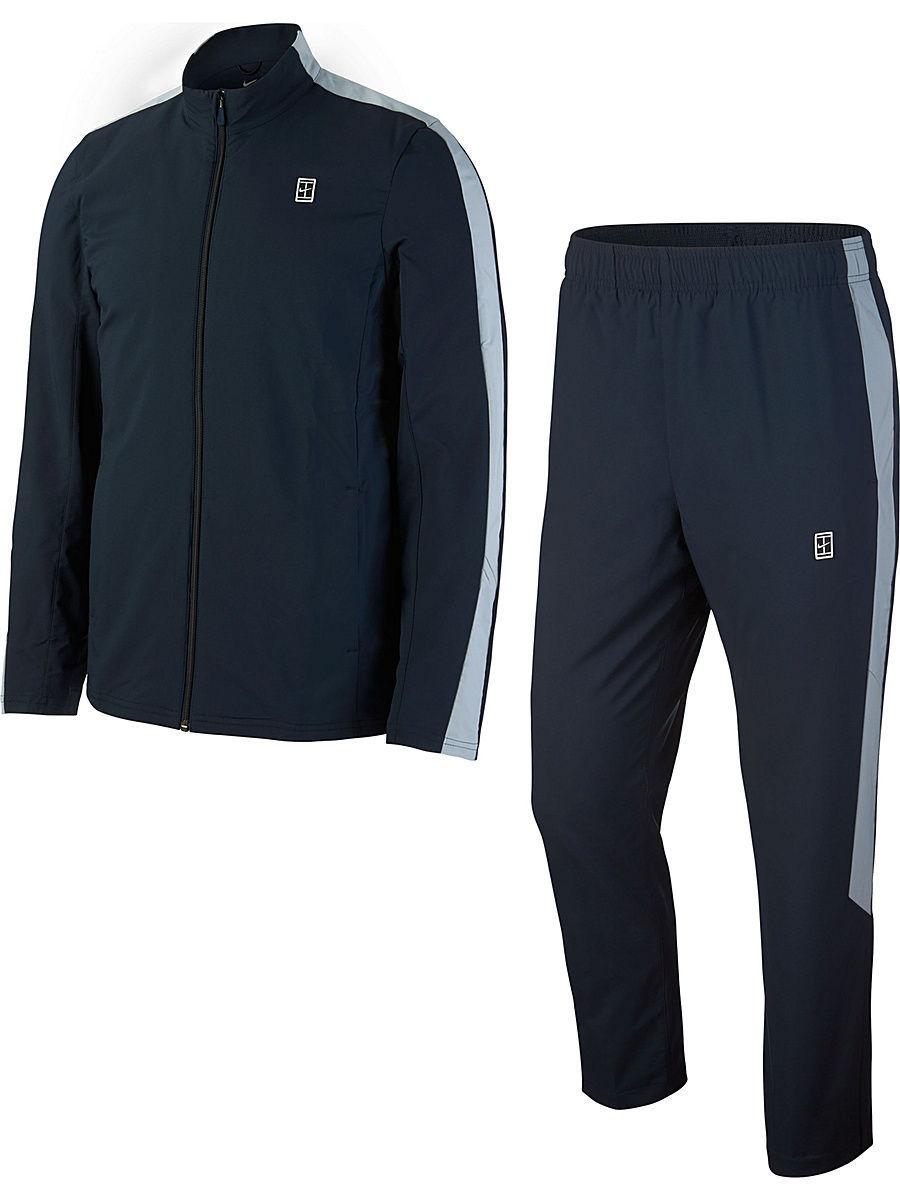 a8a23e8d NIKE   синий, серый Спортивный костюм M NKCT WOVEN WARM UP   Clouty ...