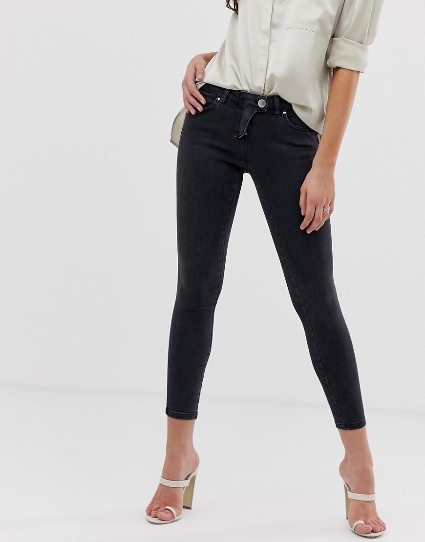 ASOS   Черные джинсы скинни с заниженной талией и ширинкой в стиле вестерн ASOS DESIGN whitby - Черный   Clouty