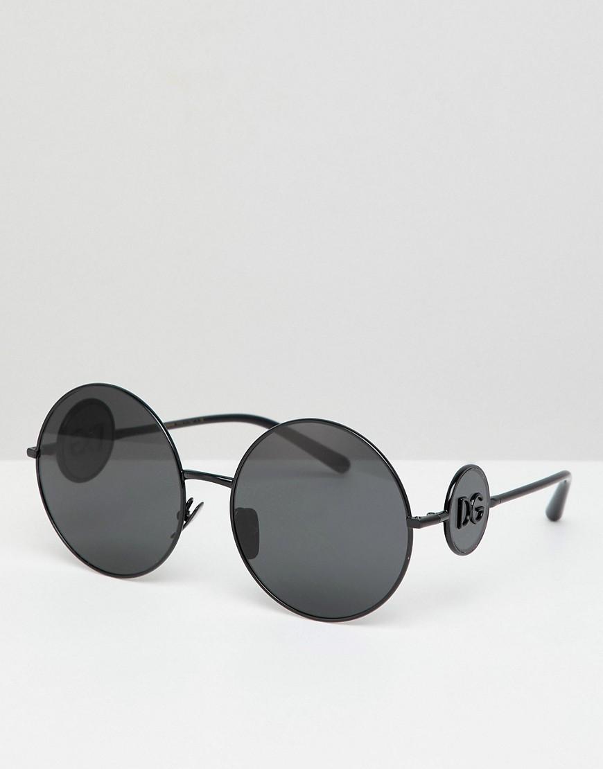 Dolce & Gabbana | Круглые солнцезащитные очки Dolce & Gabbana - Черный | Clouty