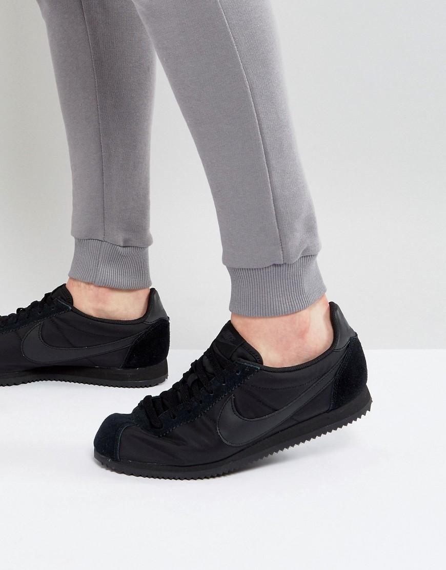 e2053c29 NIKE | Черные нейлоновые кроссовки Nike Classic Cortez 807472-007 - Черный  | Clouty ...