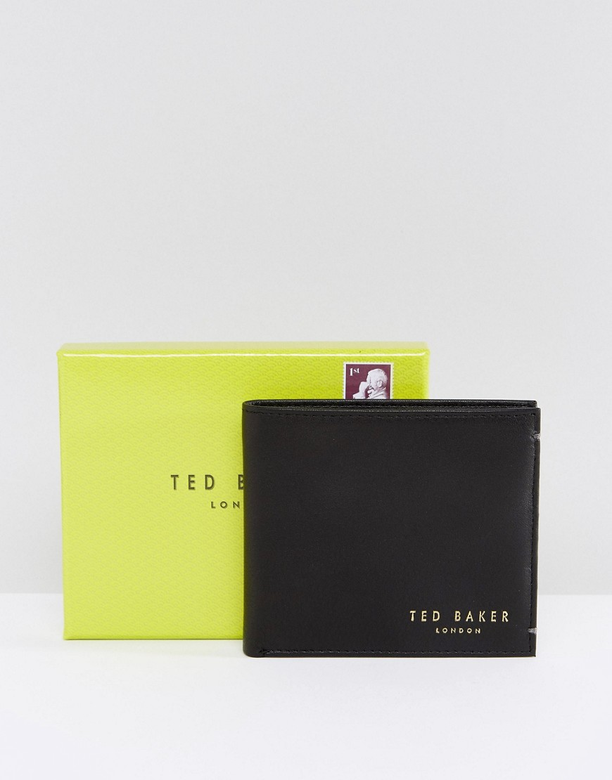Ted Baker | Кожаный бумажник Ted Baker Antony - Черный | Clouty