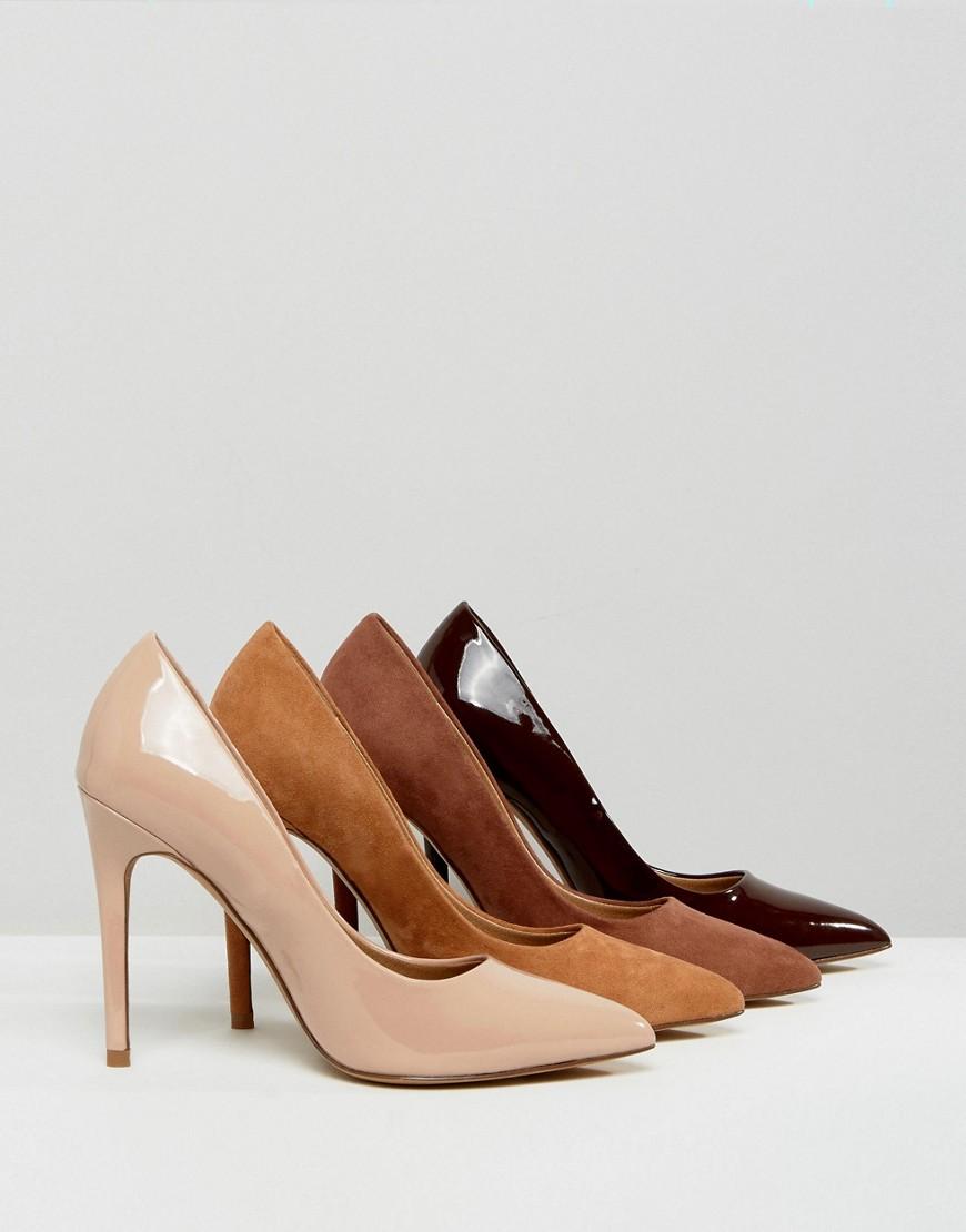 ASOS | Туфли-лодочки цвета карамели на высоком каблуке с заостренным носком ASOS DESIGN Paris - Бежевый | Clouty