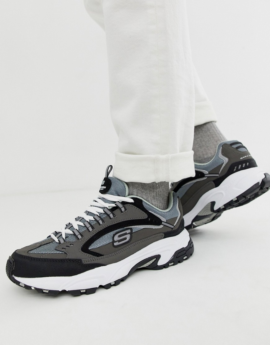 6e55cabc7 Skechers | Серо-черные кроссовки на толстой подошве Skechers D'lites  Cutback - Серый ...