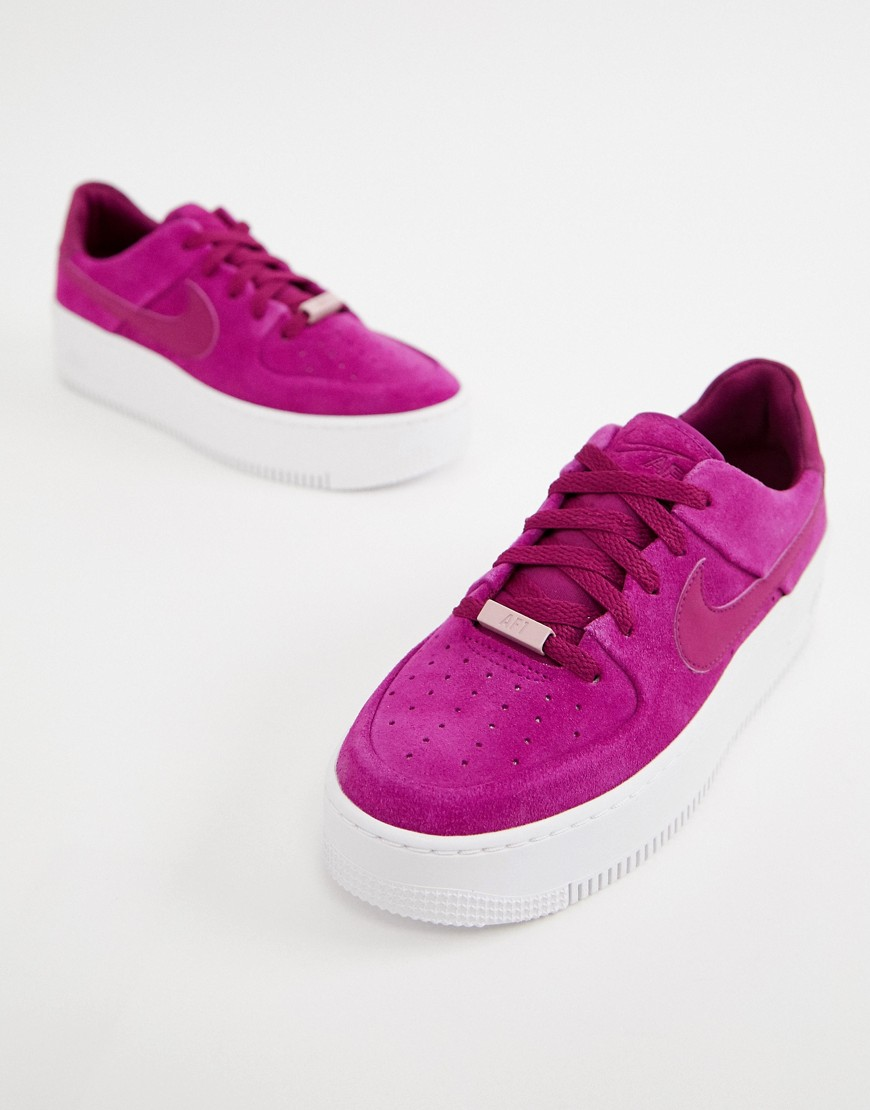 NIKE | Кеды Nike Berry Air Force 1 - Фиолетовый | Clouty