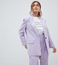 Вельветовый строгий блейзер ASOS DESIGN Petite - Фиолетовый