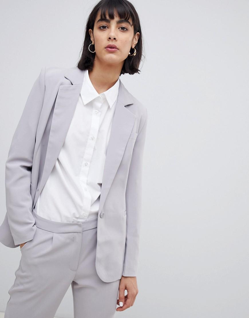 UNIQUE21 | Блейзер с застежкой на одну пуговицу Uniqe 21 tailored - Серый | Clouty